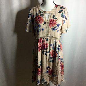 MODCLOTH by BLU Pepper Floral Mini Dress Empire
